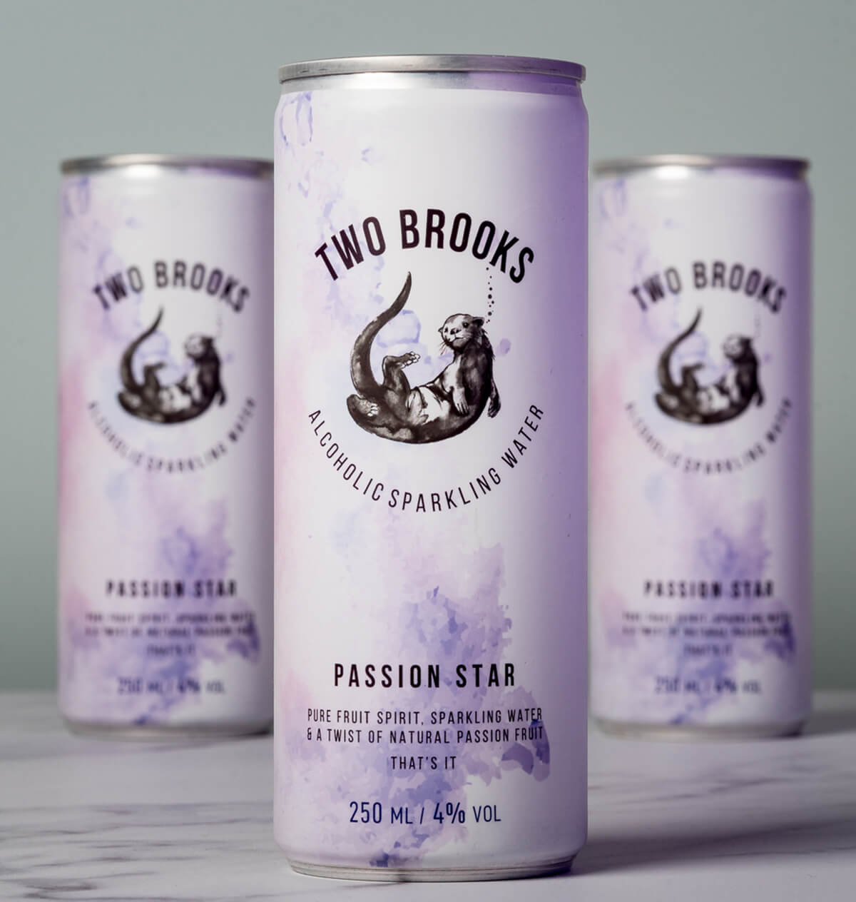 Two Brooks Alcoholic Sparkling Water - Passion Star