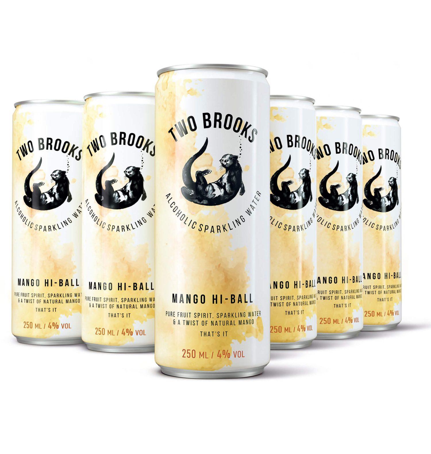 Two Brooks Alcoholic Sparkling Water - Mango Hi-Ball