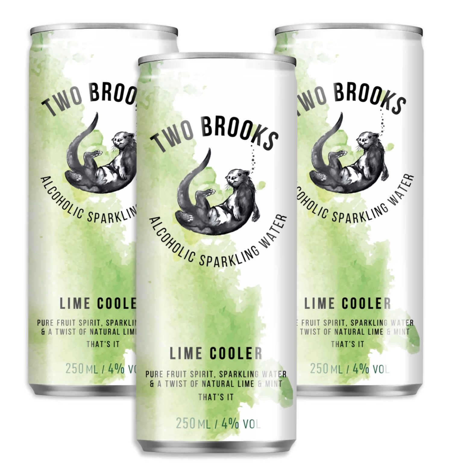Two Brooks Alcoholic Sparkling Water - Lime Cooler
