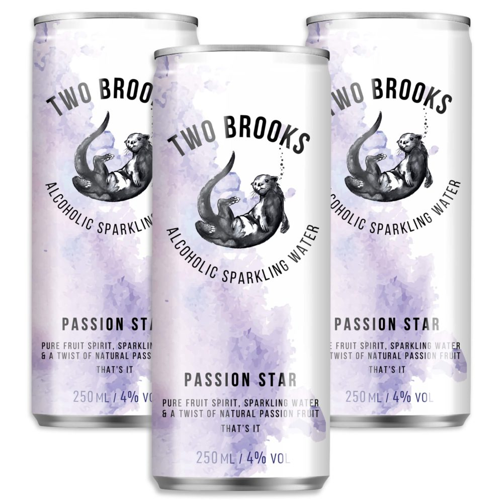 Two Brooks Alcoholic Sparkling Water - Passion Fruit